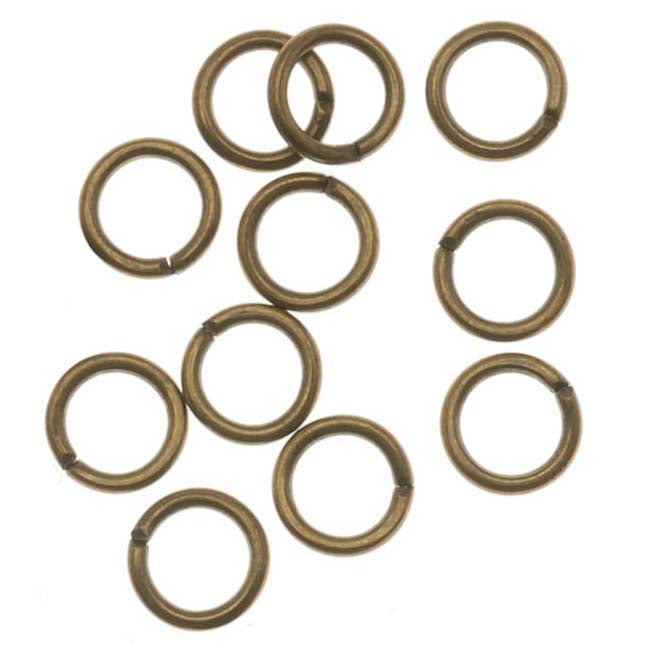 Antiqued Brass Open Jump Rings 4mm 22 Gauge (x100)
