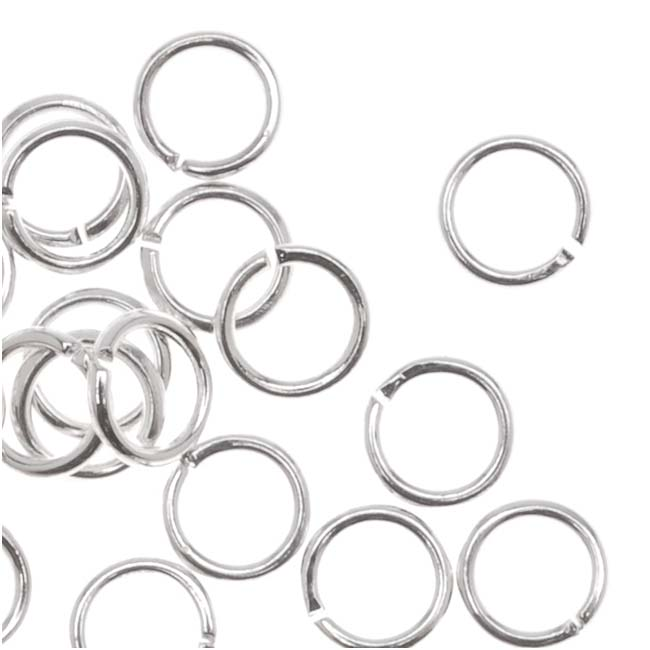 Silver Plated Open Jump Rings 4mm 22 Gauge (50)
