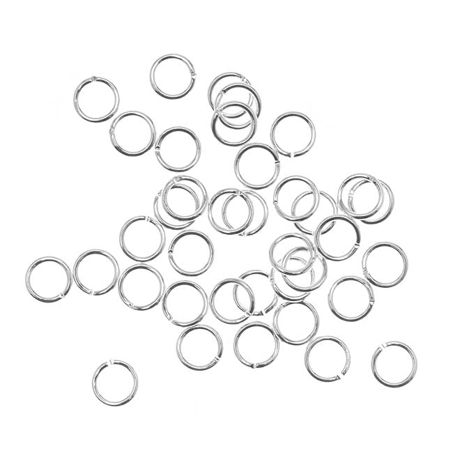 Silver Plated Open Jump Rings 5mm 21 Gauge (50)