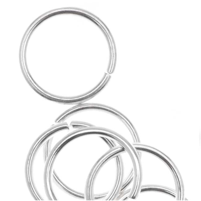 Silver Plated Open Jump Rings 8mm 20 Gauge (50)