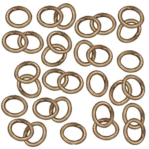TierraCast Brass Oxide Finish Brass Open Oval Jump Rings 6mm 20 Gauge (50)