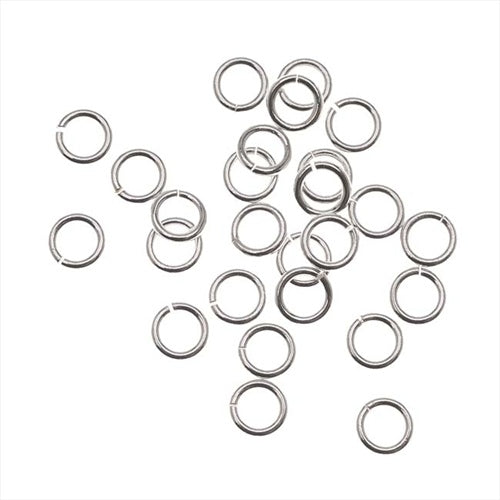 Silver Filled Open Jump Rings 4mm 21 Gauge (20)