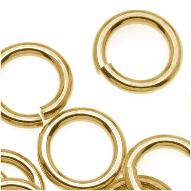 14K Gold Plated JUMPLOCK Jump Rings 10mm Diameter 14 Gauge Thick (20)