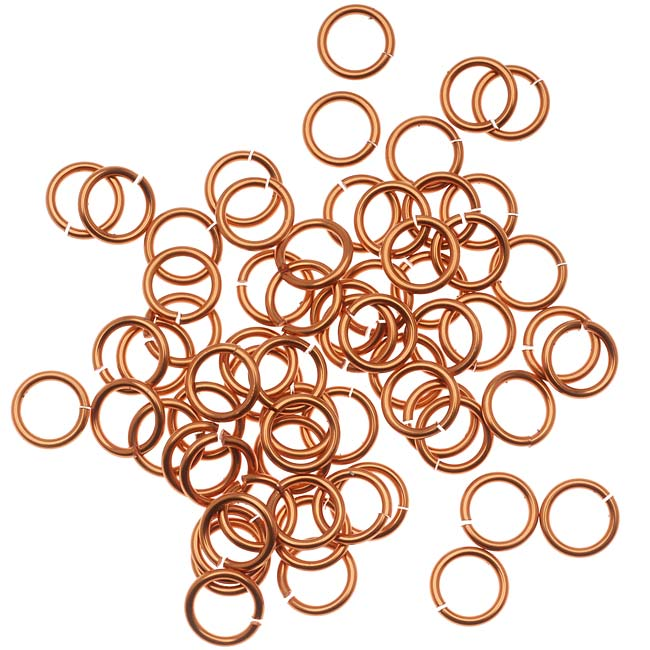 Artistic Wire, Chain Maille Jump Rings, 18 Ga / ID 5.95mm / 100pc, Tarnish Resistant Copper