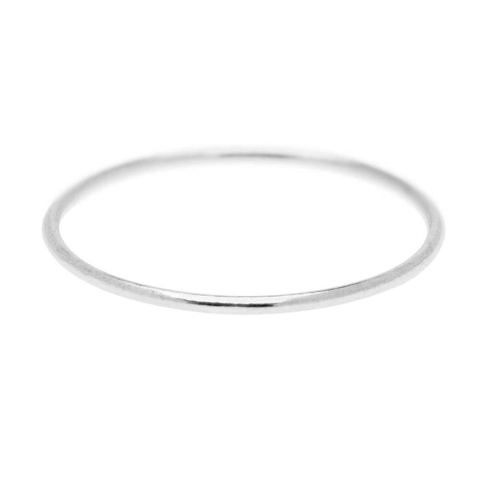 Stacking Ring, 1mm Round Wire / US Size 8, 1 Piece, Sterling Silver