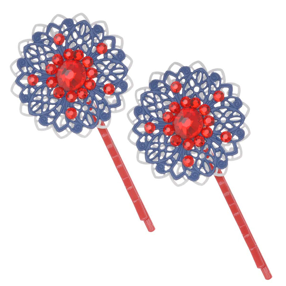 Retired - Sparkling 4th of July Hair Pin Set