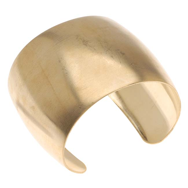 Solid Brass Domed Cuff Bracelet Base 49mm Wide (1 Piece)