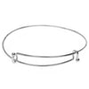 Expandable Charm Bangle Bracelet, Double Bar, 1 Bracelet, Bright Silver