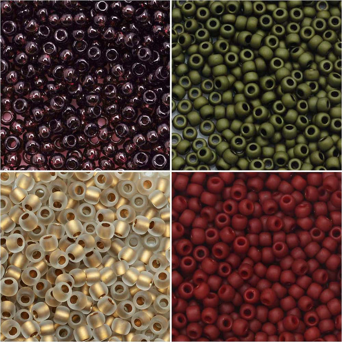 Exclusive Beadaholique Designer Palette, Toho Seed Bead Mix, Round 11/0, 32 Grams, Tuscan Vineyard