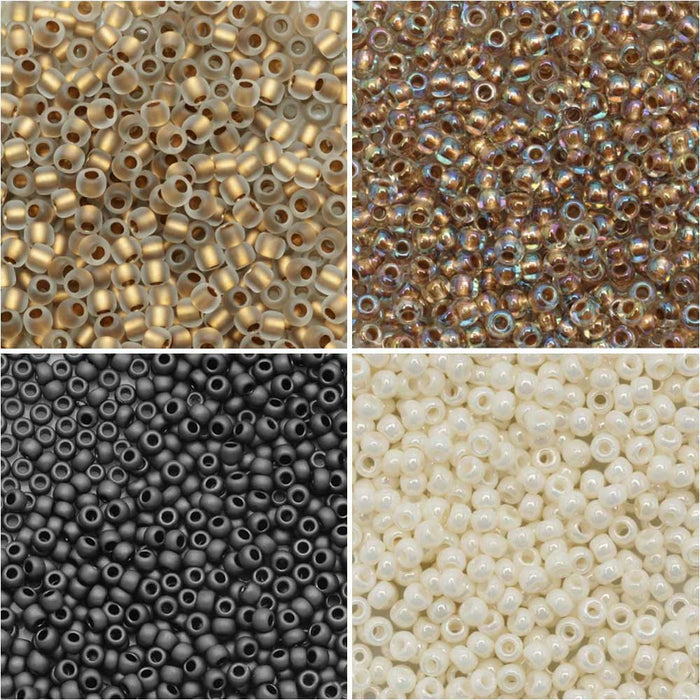 Exclusive Beadaholique Designer Palette, Toho Seed Bead Mix, Round 11/0, 32 Grams, Campfire