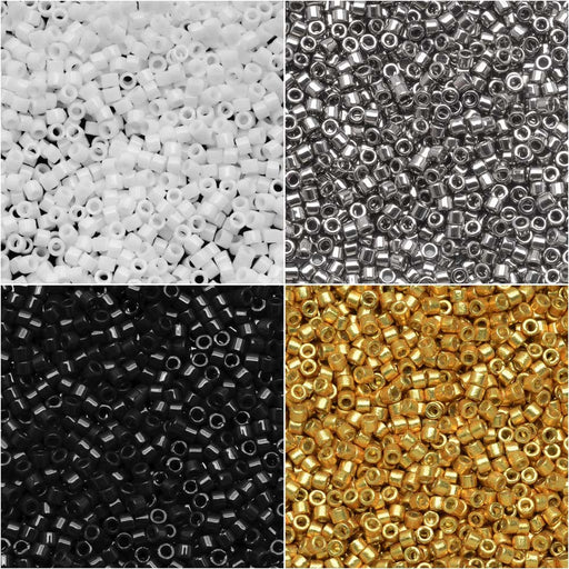 Exclusive Beadaholique Designer Palette, Miyuki Delica Seed Bead Mix, 11/0, 28.8 Grams, Manhattan