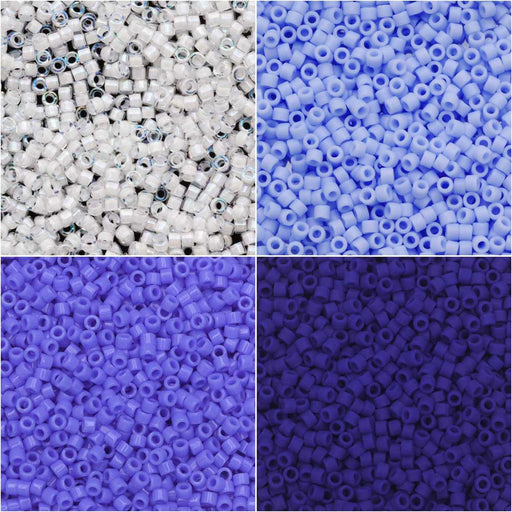 Exclusive Beadaholique Designer Palette, Miyuki Delica Seed Bead Mix, 11/0, 28.8g, Blue Sky Ombre