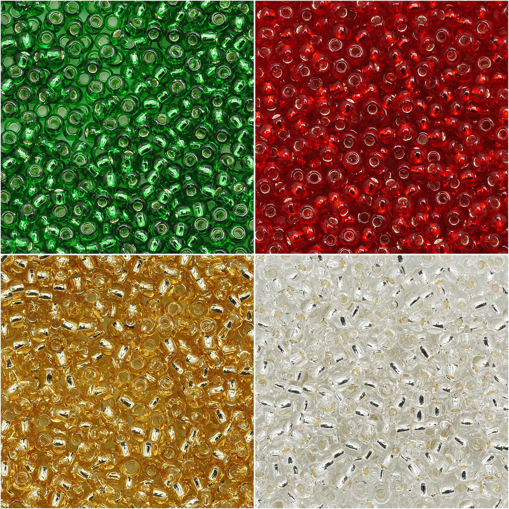 Exclusive Beadaholique Designer Palette, Toho Seed Bead Mix, Round 11/0, 32 Grams, Christmas Sparkle