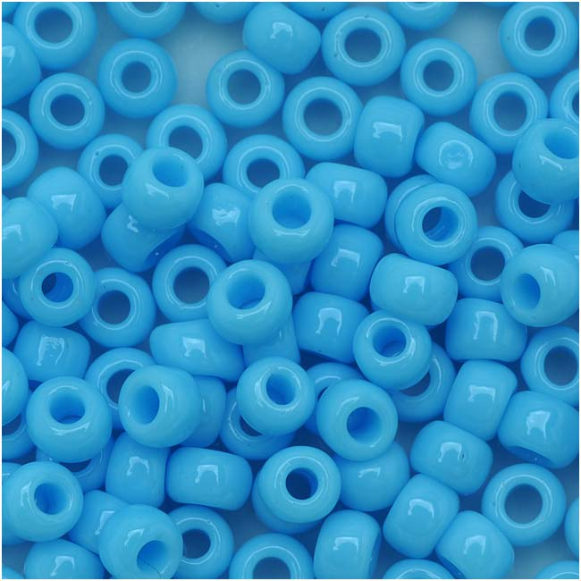 Toho Round Seed Beads 6/0 43 Opaque Blue Turquoise 8 Gram Tube