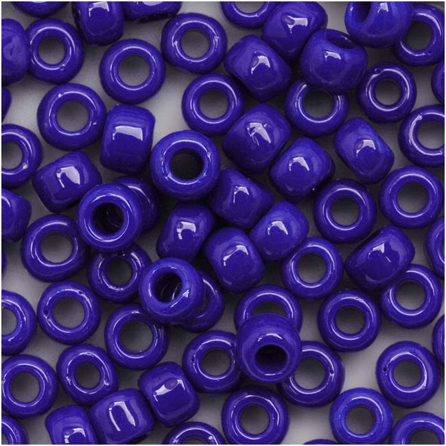 Toho Round Seed Beads 6/0 48 Opaque Navy Blue 8 Gram Tube