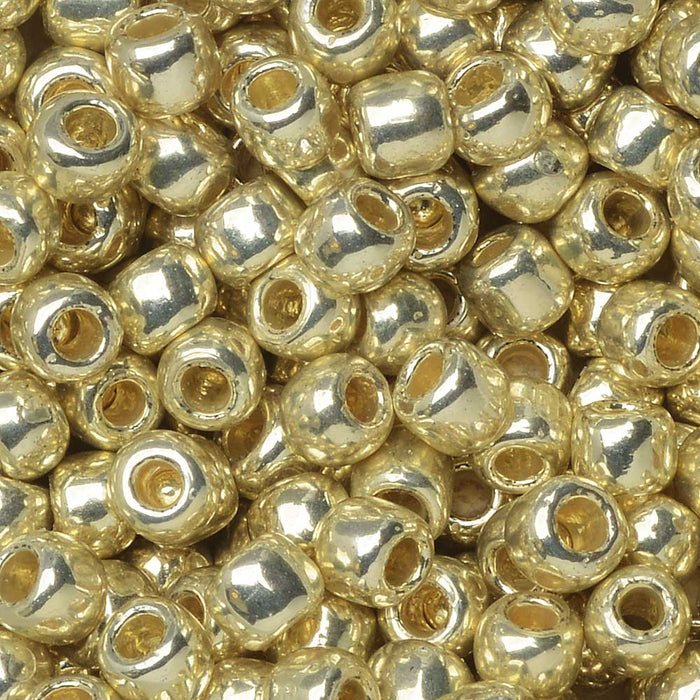 Toho Seed Beads, Round 6/0 #PF558 'Permanent Finish Galvanized Aluminum', 8 Grams