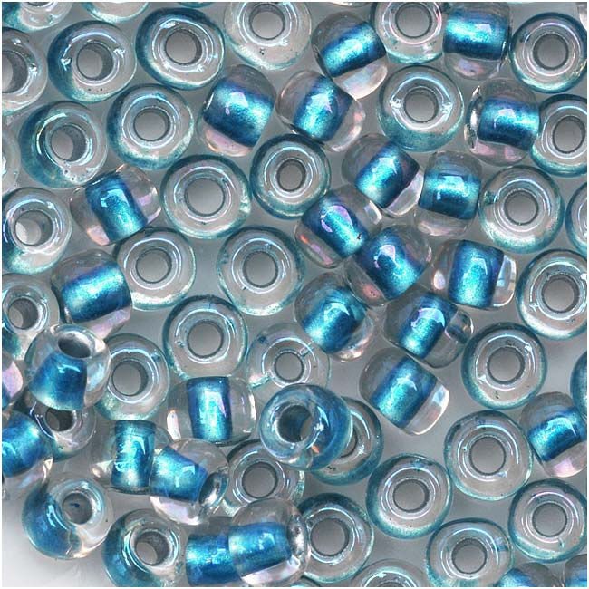 Toho Round Seed Beads 6/0 263 'Rainbow Crystal/Light Capri' 8 Gram Tube