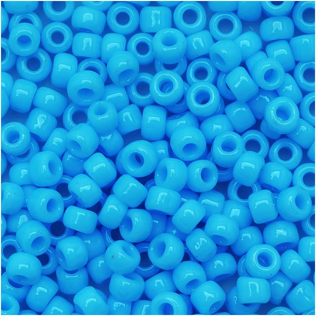 Toho Round Seed Beads 8/0 43 Opaque Blue Turquoise 8 Gram Tube