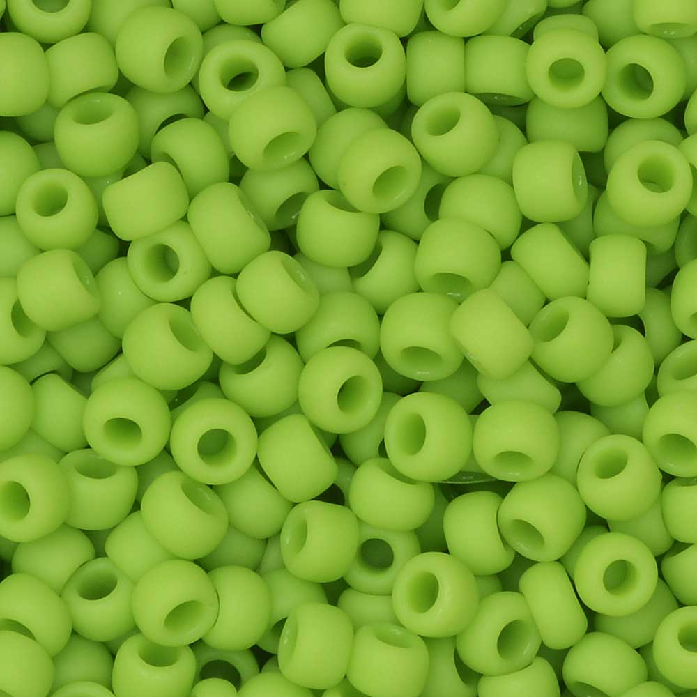 Toho Seed Beads, Round 8/0 #44F 'Opaque Frosted Sour Apple', 8 Grams