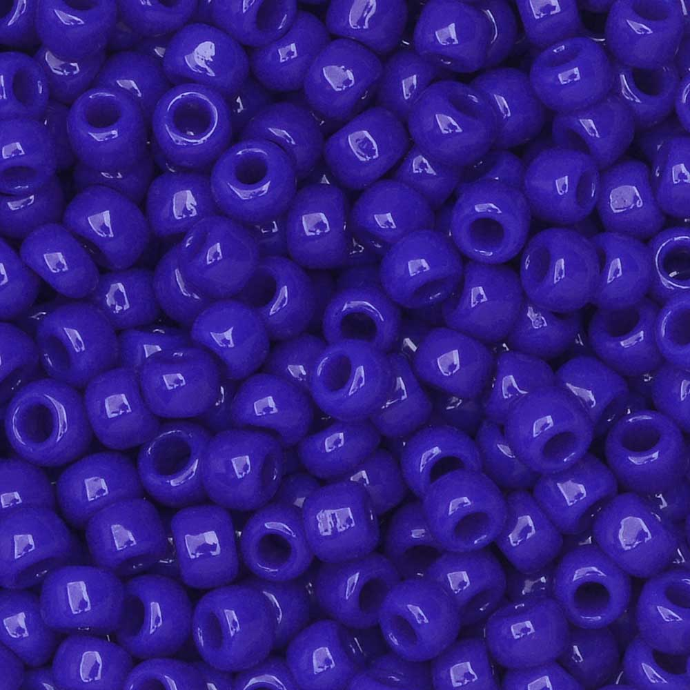 Toho Seed Beads, Round 8/0 #48 'Opaque Navy Blue', 8 Grams