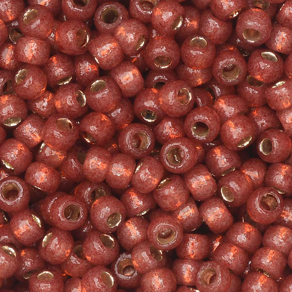 Toho Seed Beads, Round 8/0 #PF2113 'PermaFinish Silver Lined Milky Pomegranate', 8 Grams