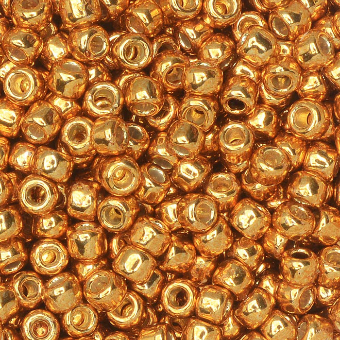 Toho Seed Beads, Round 8/0 #PF591 'Permafinish Galvanized Old Gold', 8 Grams