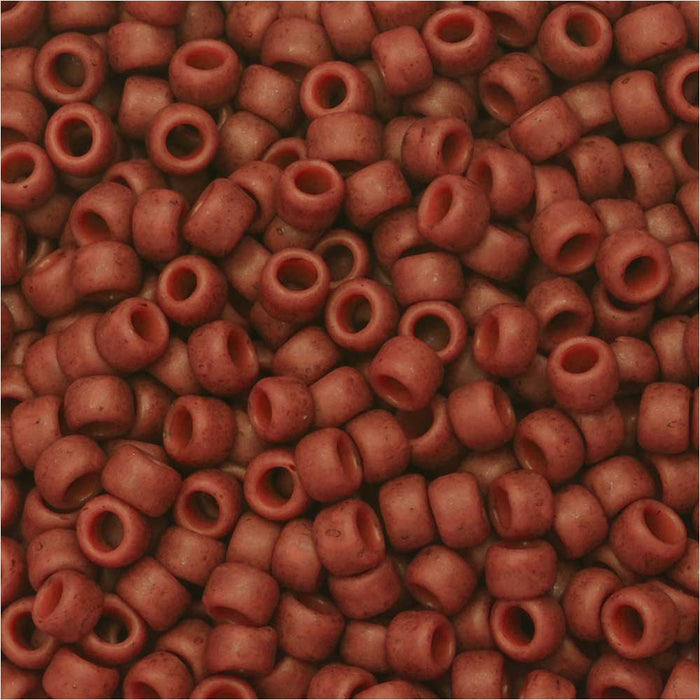 Toho Seed Beads, Round 8/0 Semi Glazed, 8 Gram Tube, Orange