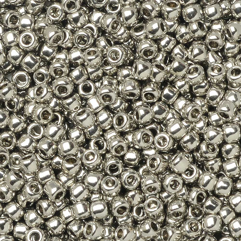 Toho Seed Beads, Round 11/0 #713 'Olympic Silver', 8 Grams