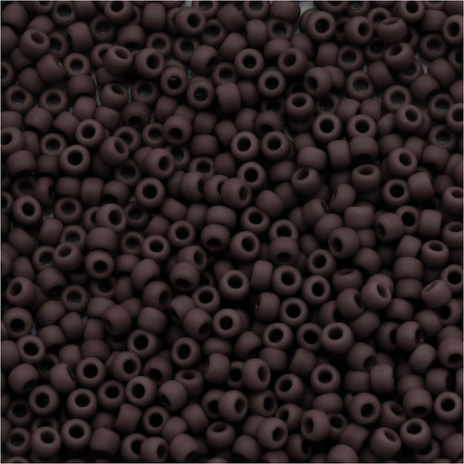 Toho Round Seed Beads 11/0 46F 'Opaque Frosted Oxblood' 8 Gram Tube