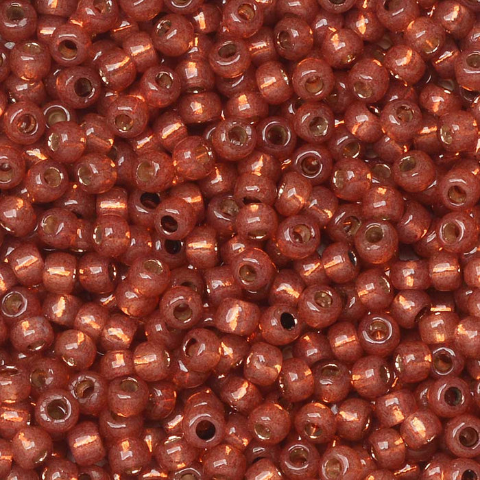 Toho Seed Beads, Round 11/0 #PF2113 'PermaFinish Silver Lined Milky Pomegranate', 8 Grams