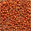 Toho Round Seed Beads 11/0 #PF562 - Permanent Finish Galvanized Saffron (8g)