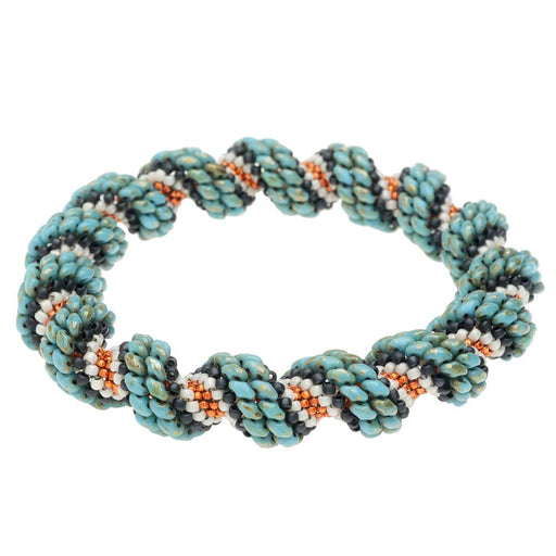 Cellini Spiral Bracelet in Santa Fe Sunset - Exclusive Beadaholique Jewelry Kit