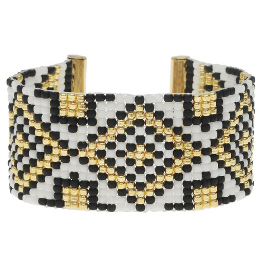 Gatsby Loom Bracelet - Gold - Exclusive Beadaholique Jewelry Kit
