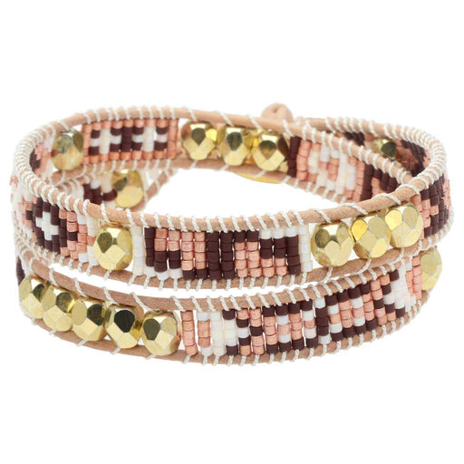 Mosaic Double Wrapped Loom Bracelet - Sanibel - Exclusive Beadaholique Jewelry Kit
