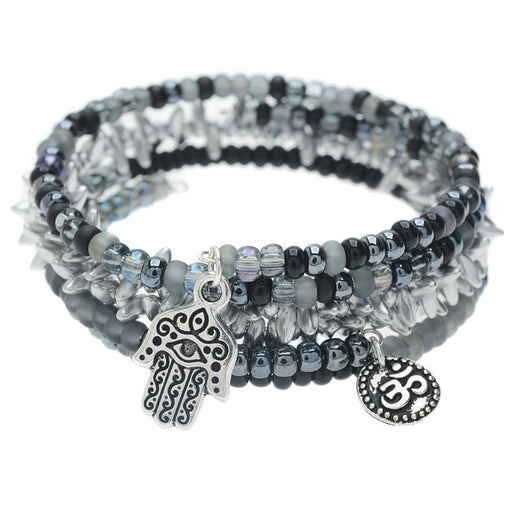 Silver Harmony Bangle Trio - Exclusive Beadaholique Jewelry Kit