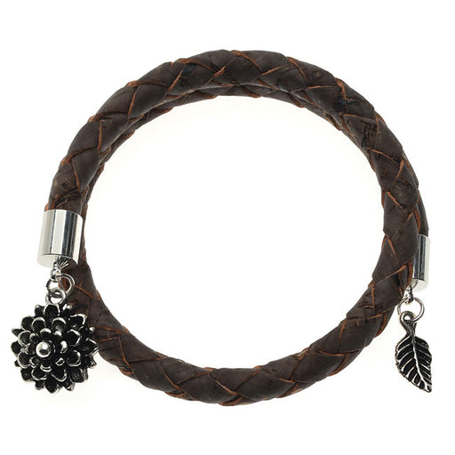 Dark Brown Braided Cork Wrap Bracelet - Exclusive Beadaholique Jewelry Kit