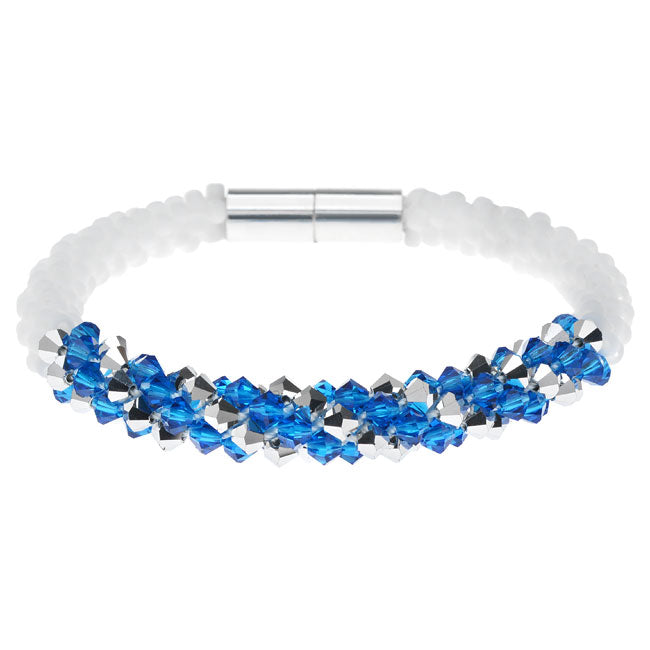 Deluxe Beaded Kumihimo Bracelet-Blue/Silver - Exclusive Beadaholique Jewelry Kit
