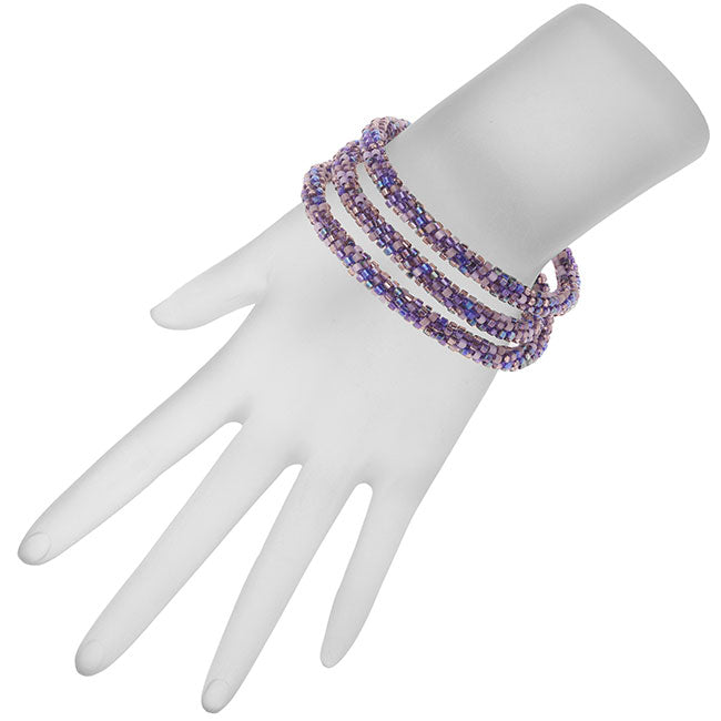 Beaded Kumihimo Wrap Bracelet Kit-Purple  - Exclusive Beadaholique Jewelry Kit