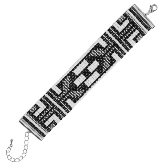 Black Tie Deco Loom Bracelet  - Exclusive Beadaholique Jewelry Kit