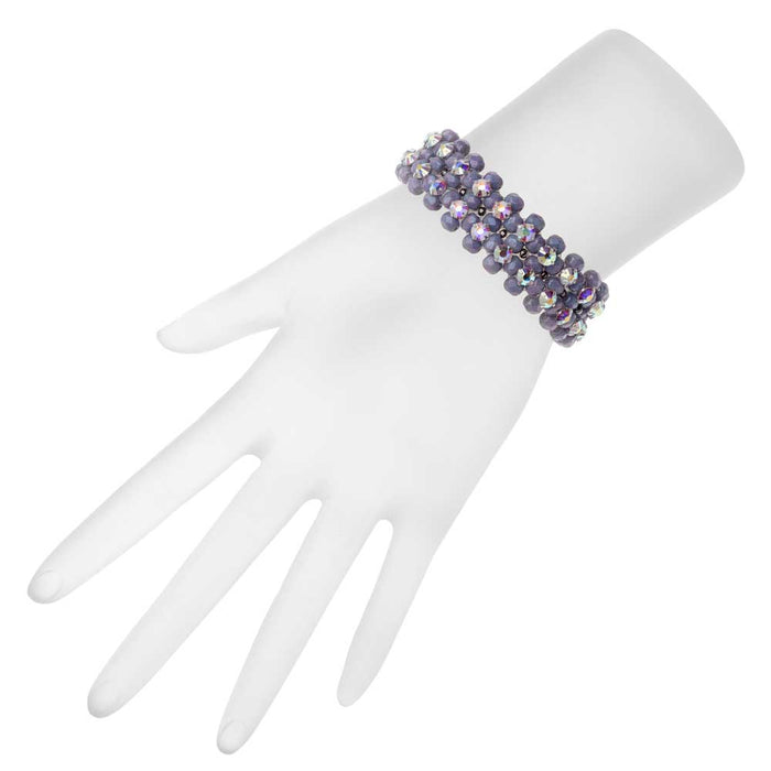 Rose Montee Right Angle Weave Bracelet - Lavender Garden - Exclusive Beadaholique Jewelry Kit