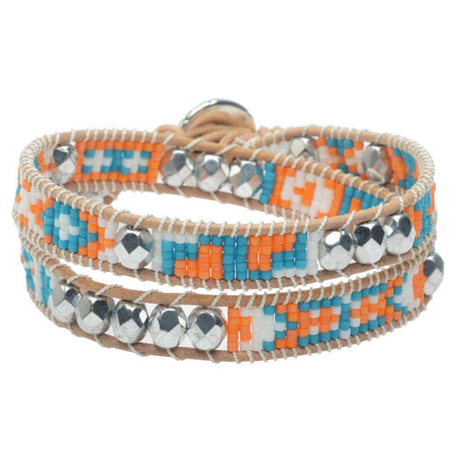 Mosaic Double Wrapped Loom Bracelet - Cancun - Exclusive Beadaholique Jewelry Kit