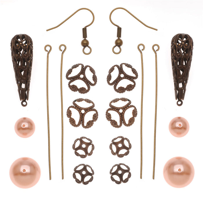 Vintage Parlor Earrings - Exclusive Beadaholique Jewelry Kit