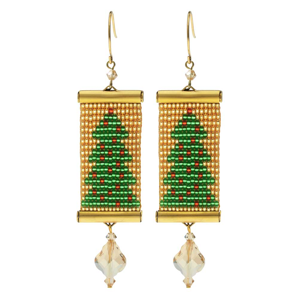 Loom Statement Earring Kit - Christmas Tree - Exclusive Beadaholique Jewelry Kit