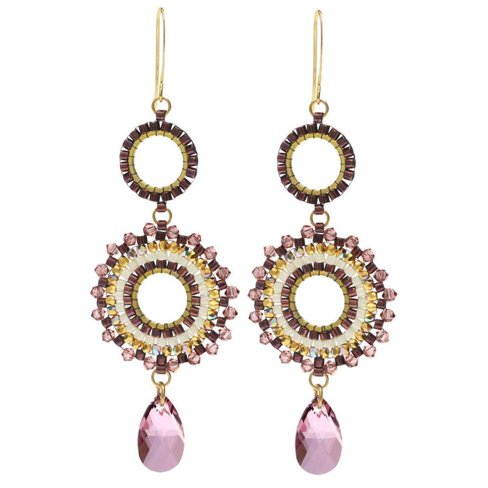 Beaded Statement Earrings feat. Swarovski Crystal-Blooming Romance-Exclusive Beadaholique Kit