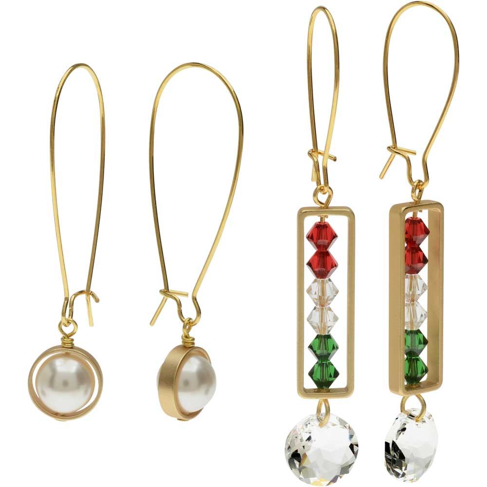 Elegant Bead Frame Earring Duo in Holiday Party - Exclusive Beadaholique Jewelry Kit