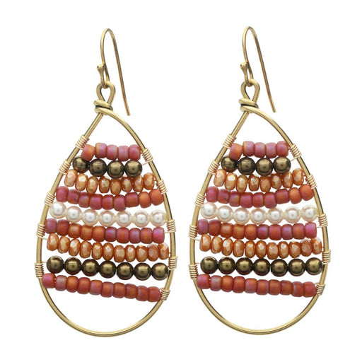 Calypso Wire Wrapped Earrings in Apricot - Exclusive Beadaholique Jewelry Kit