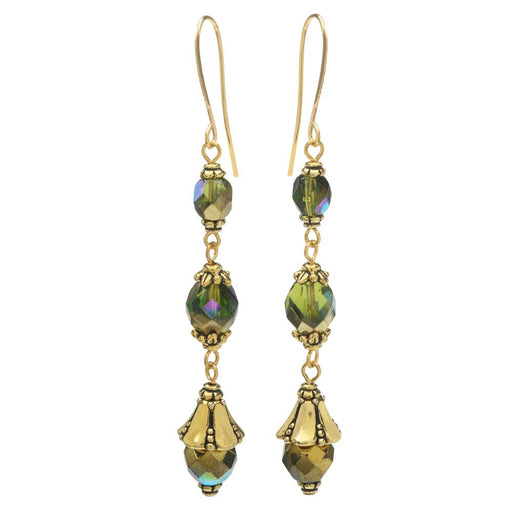 Nova Earrings in Olive - Exclusive Beadaholique Jewelry Kit