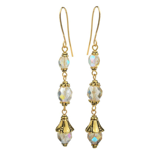 Nova Earrings in Gilded Rainbow - Exclusive Beadaholique Jewelry Kit