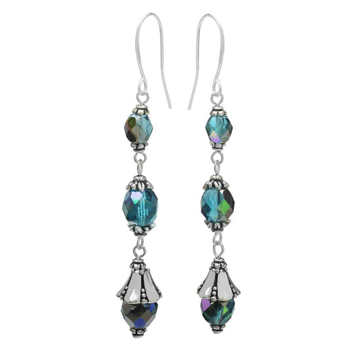 Nova Earrings in Aqua - Exclusive Beadaholique Jewelry Kit