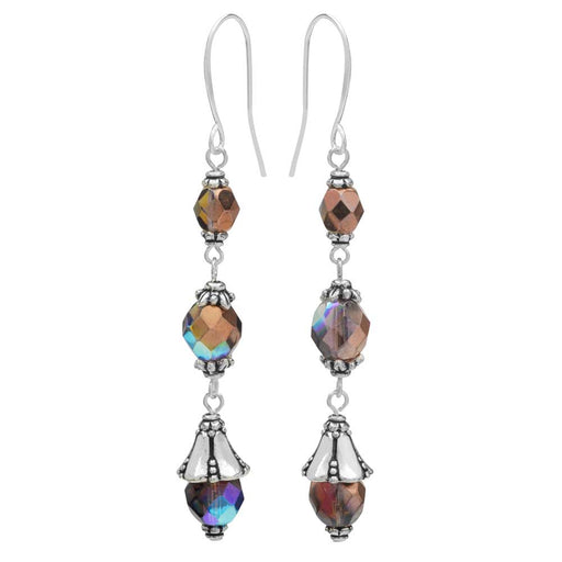 Nova Earrings in Amethyst - Exclusive Beadaholique Jewelry Kit